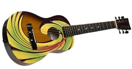 amazon com discovery designer acoustic guitar swirl toys games rh amazon com