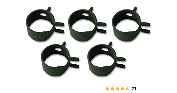 """50 Pcs Pack 1//4/"""" Fuel Line Clamps For Hose Universal Spring Action Lawn Mower"""