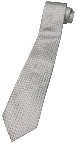 Donald Trump Signature Collection Neck Tie White and Silver Diamond Pattern - Collection Trump Signature