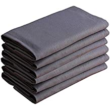 Dinner Napkins, 100% Cotton, Set of 6 Table Napkins, Taupe Grey, Soft and Absorbent Hand Napkins For Kitchen, Parties, Weddings, Dinners or Events