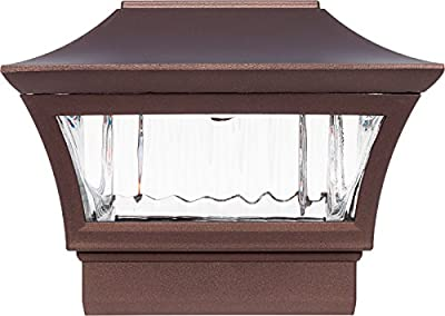 GreenLighting Aluminum Solar Post Cap Light - LED Light 4 x 4 Wood 6 x 6 PVC Posts