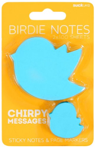 SUCK UK Animal Sticky Notes and Page Markers - Blue Bird