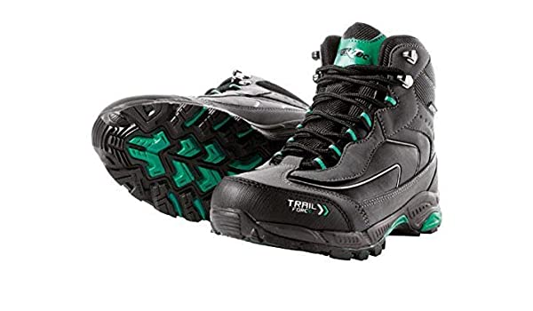 Crivit Outdoor - Zapatillas para Deportes de Exterior de Cuero para Mujer Negro/Verde 38: Amazon.es: Zapatos y complementos
