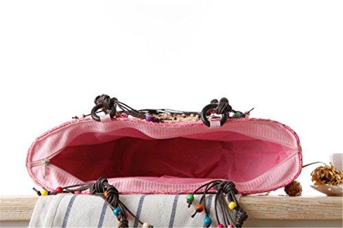 Fabric Bag Handmade Embroidered Green Woven Starfish Beach Hawaii Straw Bag Seaside Jiang Bag Resort Minghui xZ16t