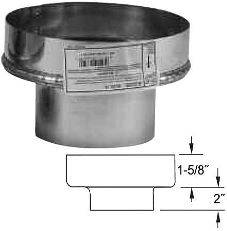 """SELKIRK 4/"""" to 8/"""" VP Pellet Pipe Chimney Adapter #4VP-A8"""