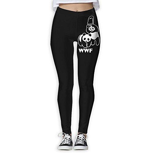 Okb-7 Womens WWF Funny Panda Bear Wrestling Yoga Long Pants,Gym Workout Fitness Activewear Casual Sweatpants by Okb-7