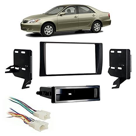 amazon com: fits toyota camry 2002-2006 multi din stereo harness radio  install dash kit: car electronics
