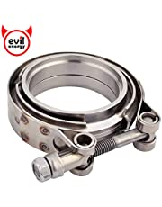 EVIL ENERGY 2.5 Inch 2 1/2 Stainless Steel Exhaust V Band Clamp Male Female Flange Kit