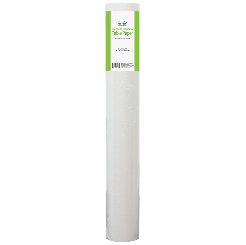 ForPro Premium Universal Table Paper, Smooth, Wrinkle-Resistant, 21 Inches W x 225 Feet L