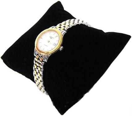 10 St/ück schwarzer Samt kleine Armband Uhr Kissen Hochzeit Ring Kissen f/ür Schmuck Display