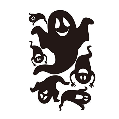 57x37cm Halloween Happy Ghosts Funny Monsters Scream Wall Decals Window Stickers Halloween Decorations for Kids Rooms Nursery Party -