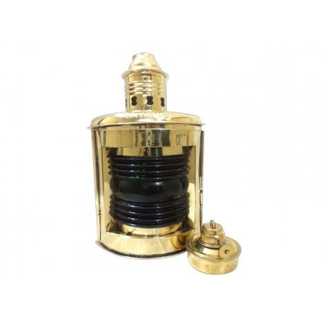 Starboard Lamp (Glass Oil Lamp Hanging Brass Lamp Green Starboard Lamp Home Decorative)