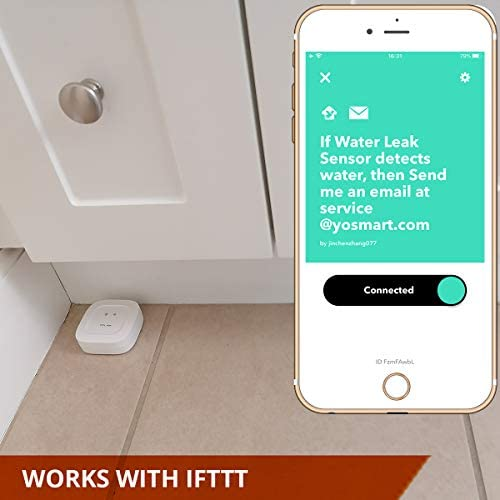 Smart Water Leak Sensor 3 Pack, YoLink 1/4 Mile World's Longest Range Wireless Water Sensor Works with Alexa IFTTT, Water Leak Detector with App Notifications, Remote Monitoring - YoLink Hub Required