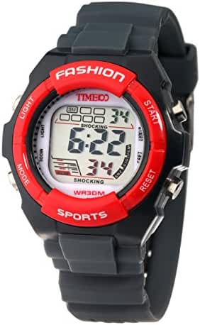 Time100 Kids Digital Timing Multifunctional Yellow Strap Sport Electronic Watch #W40011L.05A