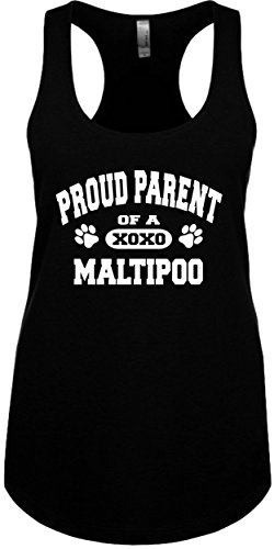 5007 Tank (Junior's Funny Tank Top Size 2X (Proud Parent of a Maltipoo) Ladies Novelty Tee)