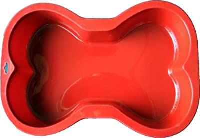 Bone Shaped Silicone Cake Pan, 7-Inch by 10-Inch, Small from K9Cakery