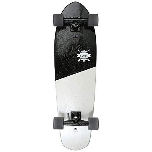 GLOBE Skateboards Big Blazer Cruiser Complete Skateboard, Black/White/Scorps