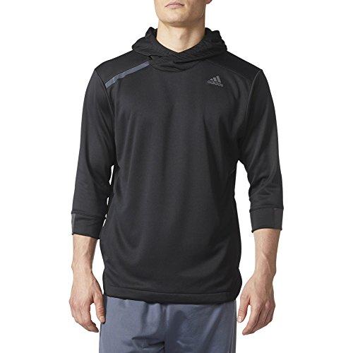 Sleeve Utility Shirt - adidas New Men's Essentials 3/4 Sleeve Hooded Shirt Black/Utility Black XL