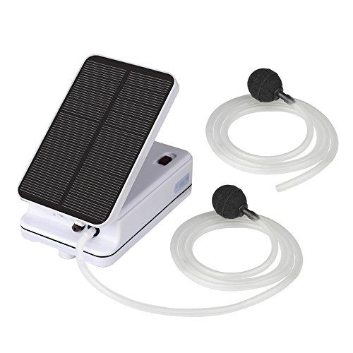 eoere Portable Solar Air Pump for Fishing, Multiple Charging Aquarium Air Pump