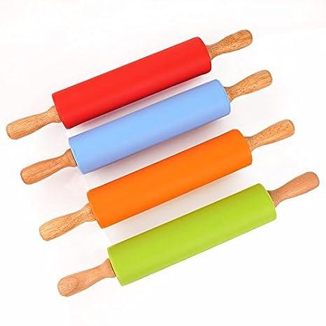 Meijunter manico in legno a rullo mattarello da cucina per ...