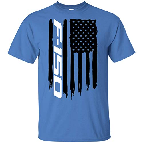 (WheelSpinAddict Men's F-150 F150 Truck Lariat FX4 FX2 XLT XL USA Flag T-Shirt)