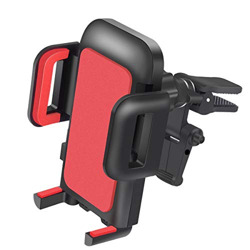 Car Mount,OTEMIK Phone Holder Universal Air Vent Phone Mount,Adjustable 360 Degree Rotation Cellphone Mount One-Button-Release for iPhone X/8/7P, Galaxy S6/7 Note 8,HTC LG Huawei,Other Smartphone(RED) by OTEMIK
