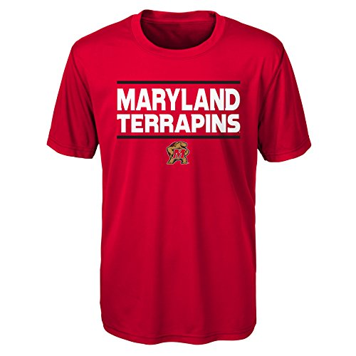 Gen 2 NCAA Maryland Terrapins Youth Boys Short Sleeve Performance Tee, Youth Boys Small(8), ()