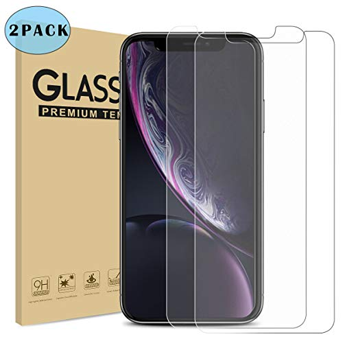Matte Screen Protector for iPhone XR [Anti-Glare][Anti-Fingerprint] Tempered Glass 9H with Case Friendly for Apple iPhone XR 6.1inch (2 Pack)