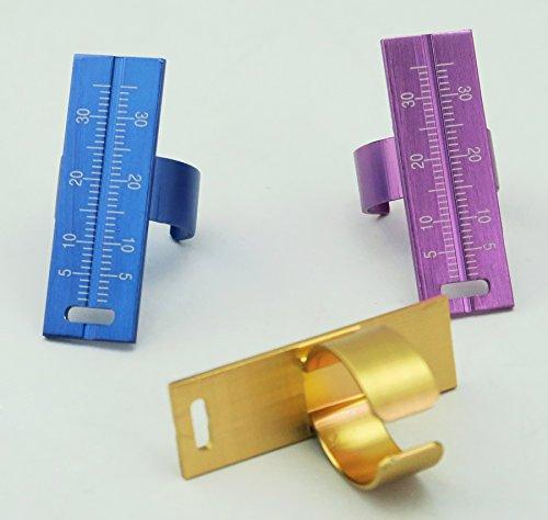3pcs New Design Endo Ruler Aluminium Endodontic File Ruler Dental Finger Ring ()