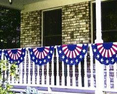 Patriotic Bunting Party Garland, 11' x 16