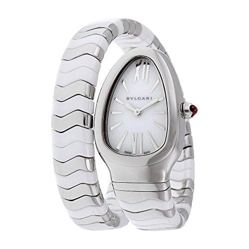 Bvlgari Serpenti Spiga White Lacquered Dial Quartz Ladies Watch 102182