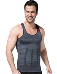 Panegy Men Elastic Slimming Body Shaper Vest Shirt Lose Weight Underwears Tee