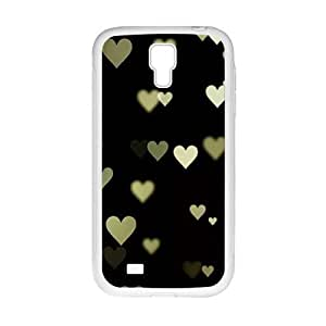 lovely heart with black background personalized creative clear protective cell phone case for Samsung Galaxy S4