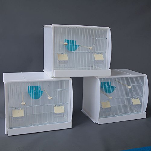 Lot of 3 Stackable Canary Finch Breeding Bird Cage with Nest Pan
