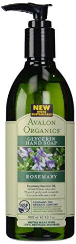 Avalon Organics Glycerin Hand Soap, Rosemary, 12 Ounce (Pack of 3)