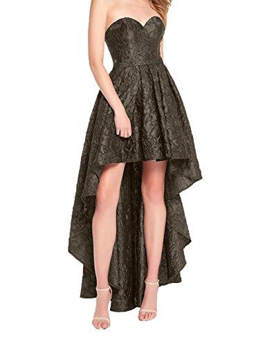 Damen Kleider Lang Charmant Abschlussballkleider Spite Linie Damen Festlich Promkleider Braun Hi lo Dunkel Partykleider A Abendkleider HqOdq