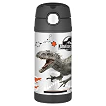 12oz Funtainer Straw Thermos Bottle Jurassic Park