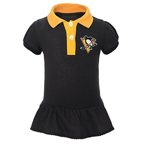NHL Pittsburgh Penguins Newborn & Infant Little Prep Polo & Diaper Cover Set, 0-3 Months, Black by NHL by Outerstuff (Image #2)