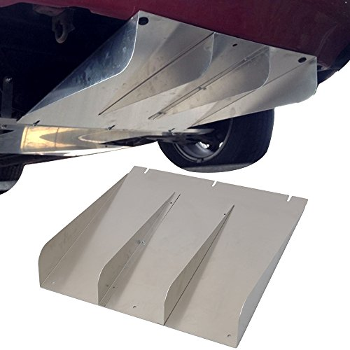 Rear Bumper Lip Diffuser Fits Universal Cars | Universal Style Type 1 Unpainted Aluminum Aftermarket Replacement Parts Rear Splitter by IKON MOTORSPORTS