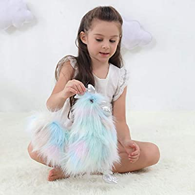 Apricot Lamb Toys Plush Chicken Stuffed Animal Soft Cuddly Perfect for Girls Boys (Colorful Chicken, 12 Inches): Toys & Games