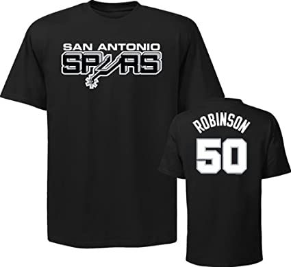 check out 8a894 3ccac Majestic David Robinson San Antonio Spurs Black Throwback Jersey Name and  Number T-shirt