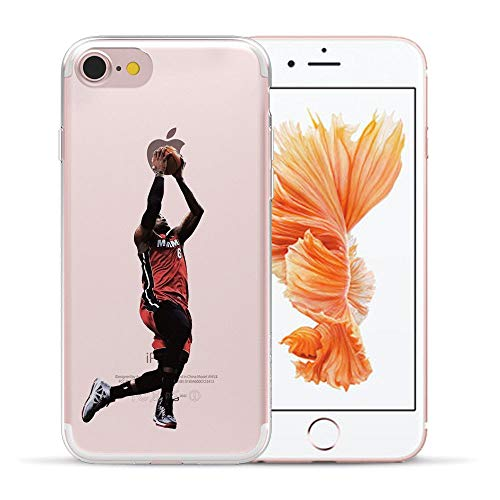 1 piece HryCase NBA Star Basketball Kobe Jordan 23 James Print Matte Hard Plastic Case Cover For Apple iPhone 8 6 6S 7 Plus 5 5S X SE