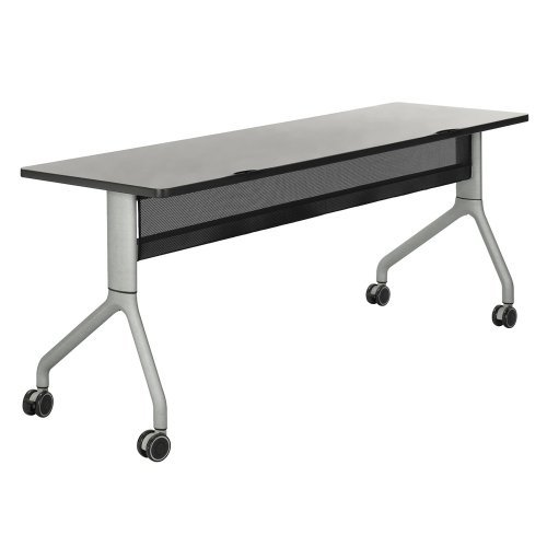 Safco Rumba Rectangular Nesting Table — 72in. x 24in., Gray/Black, Model# 2043GRBL by Safco