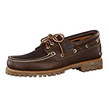 Timberland Authentics 3 Eye Classic, Náuticos para Hombre, Marrón MD Brown Full Grain, 43.5 EU
