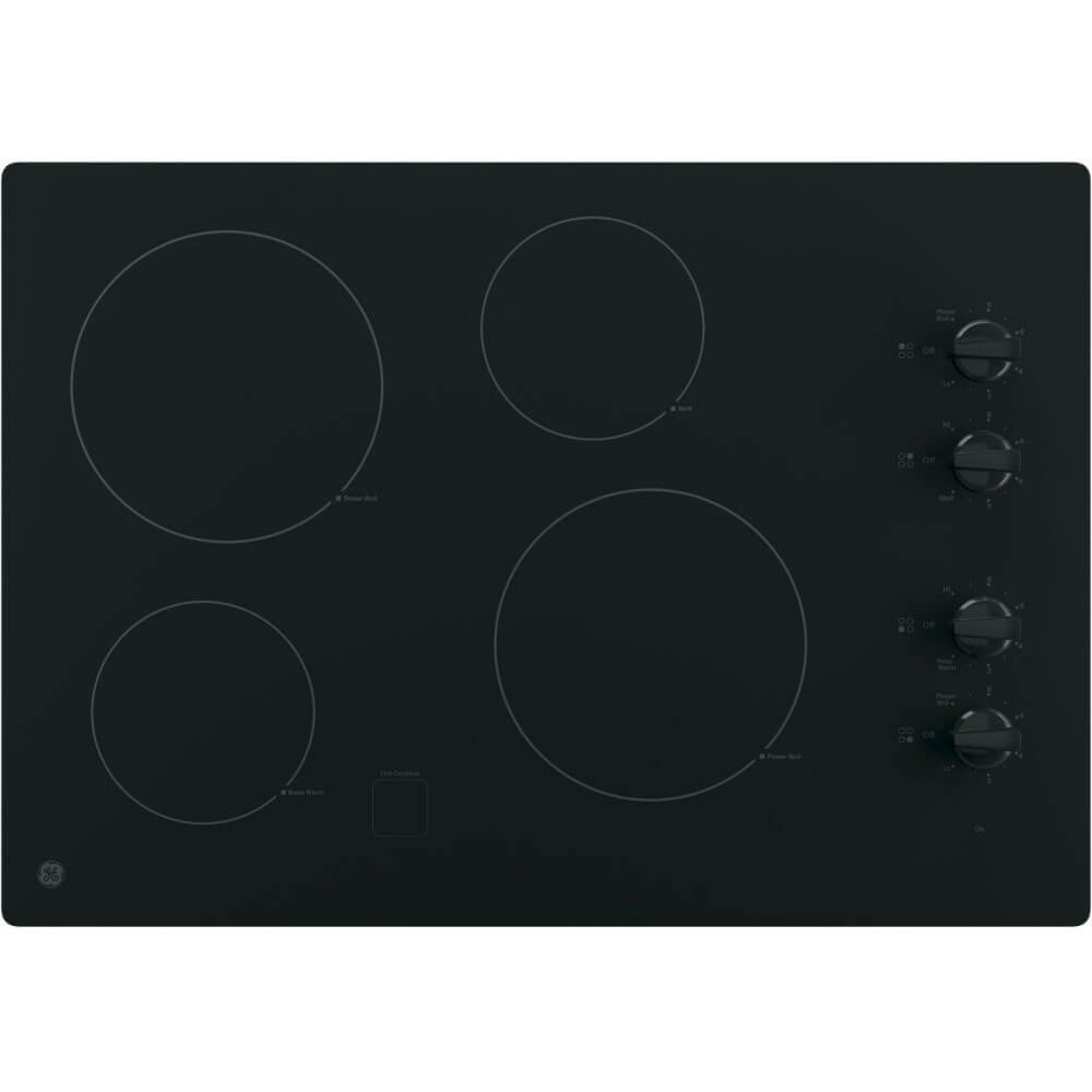 GE JP3030DJBB 30'' Black Electric Smoothtop Cooktop by GE