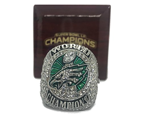 2017-2018 Philadelphia Eagles Super Bowl LII World Championship Replica Ring and Box (10, Foles)