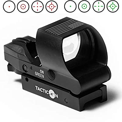 Predator V2 Reflex Sight   Combat Veteran Owned Company   45 Degree Offset Mount Included   Reflex Rifle Optic with 4 Reticle Patterns   Adjustable Color Settings   Red Dot Green Dot Gun Scope