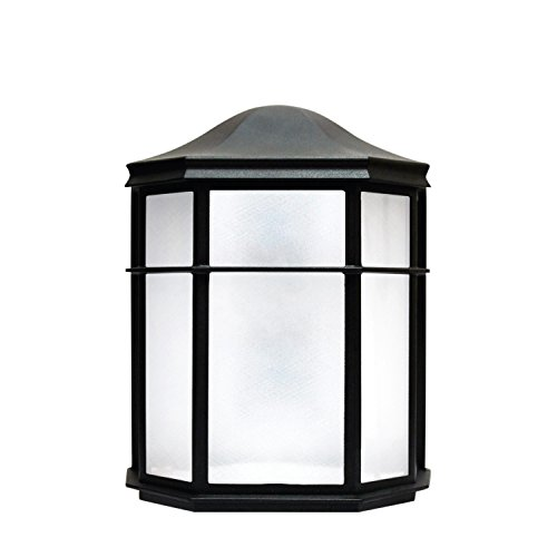 LED Outdoor Wall Sconce, Frosted Glass, 9 Watt (60W Equivalent) 120V, 500 Lumens, Soft White 3000K, Waterproof, Rust Resistant, RoHS Compliant, ETL Listed, Energy Star Review