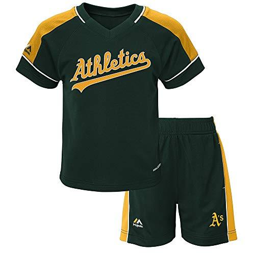 (Outerstuff Oakland Athletics MLB Cool Base Performance T-Shirt & Shorts Set Toddler)