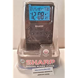 Sharp Digital Alarm Clock SPC486A with Countdown Timer, Alarm Time Display, Calendar Display, & Indoor Temperature